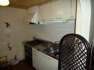 施工前:既存システムキッチン