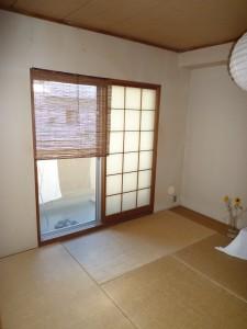 施工前:和室壁 クロス貼り