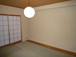 施工後:和室壁 珪藻土塗り壁