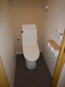 施工後のトイレの写真