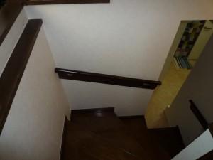 施工後 階段2の手摺