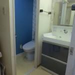 ブルーベースの便器洗面台