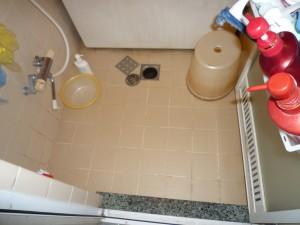 既存、在来浴室 床排水口(スラブ貫通)