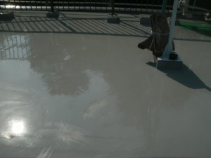 7ウレタン防水施工中
