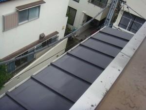 5瓦棒屋根施工前