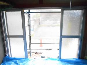 施工前写真1 洋室1のサッシ