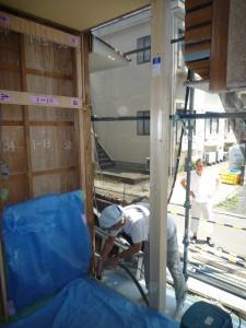 施工中 洋室1・柱42番