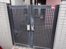 タッチキーでラクラク開錠 門扉取替工事
