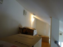 パステルカラーの間仕切り壁で圧迫感のない快適空間に 目黒区 K様邸