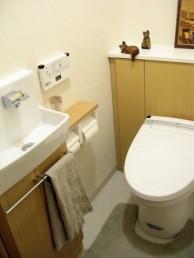 INAXピタと手洗い器を設置