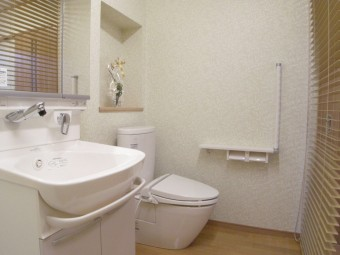 大き目の洗面室にトイレを設置
