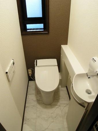 LIXILトイレ サティス給排水統合タイプに交換