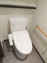 スッキリ落ち着いたトイレ空間に
