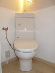和式→洋式トイレに 便器を斜めに設置してスペースを有効利用