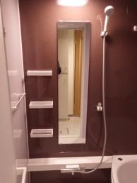 ワイド浴槽でゆったり広々