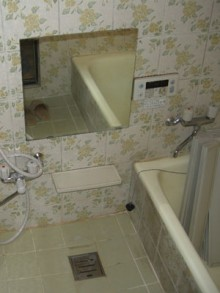 在来の浴室からINAXリノビオのお風呂に交換