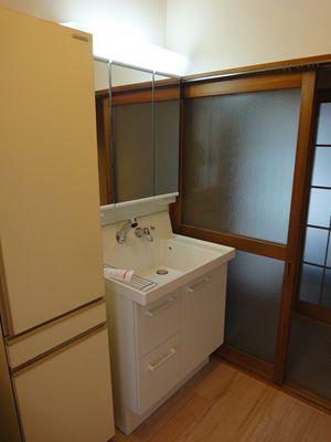 シンプルな洗面化粧台 INAXピアラ