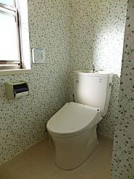 シンプルかつ節水トイレのピュアレストQRに交換