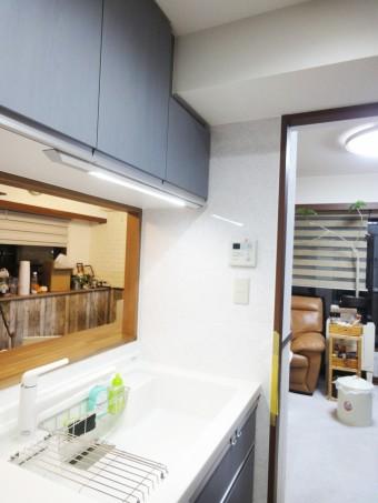 天然木の艶を美しく表現した、こだわりのキッチン 大田区S様邸
