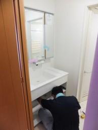 機能的な洗面化粧台パナソニックのウツクシーズに交換
