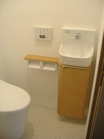 TOTO ネオレスト/自動水栓手洗器に交換