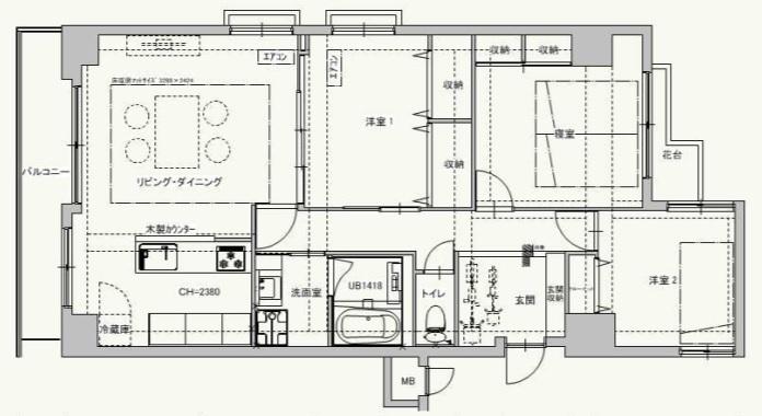 玄関を広々とした自転車も置ける開放的な空間に 渋谷区I様邸