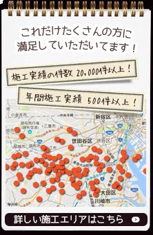 目黒区・世田谷区を中心にケンテックが手がける施工エリア